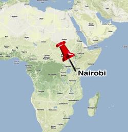 Nairobi Kenya World Map Timekeeperwatches - Where is nairobi